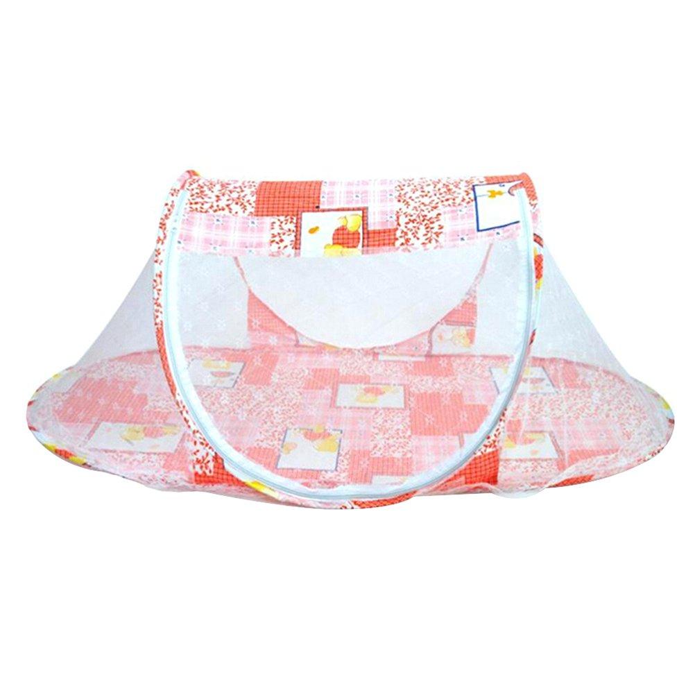 WINOMO Foldable Baby Bed Mosquito Net Travel Tent Crib Playpen (Orange)