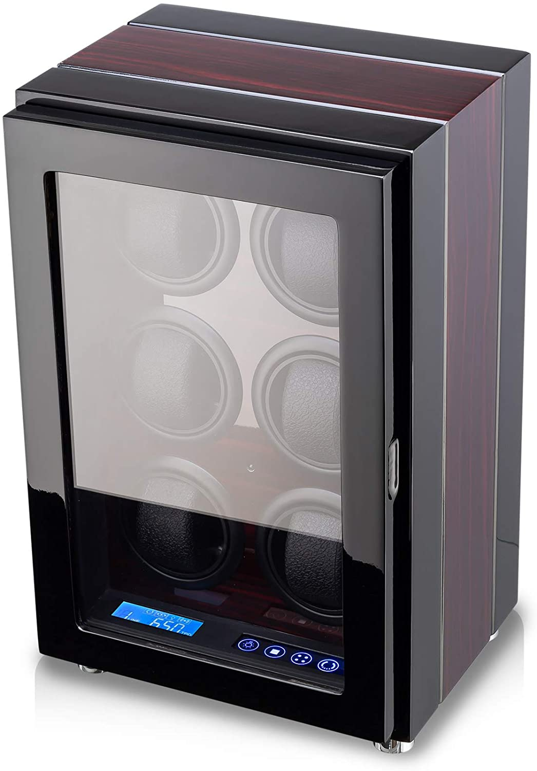 Watch Winder for 6 Watches with LED Backlight and Remote Control