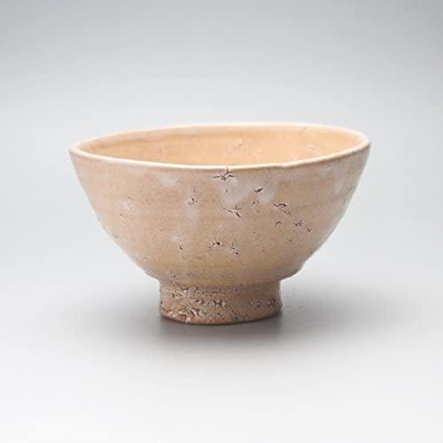Mathca teabowl with wooden box made by Keita Yamato. Japanese traditional ceramic Hagi ware.
