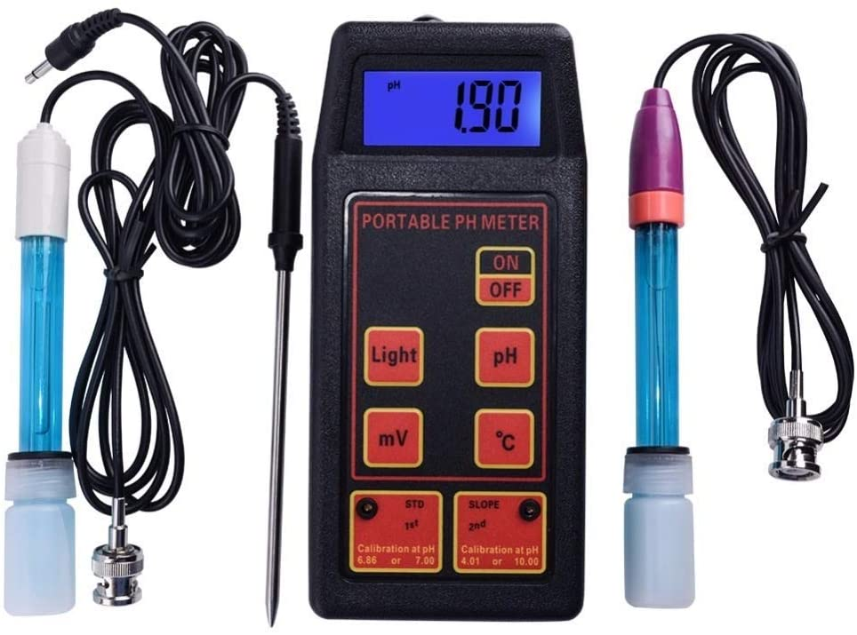 Luckya Precise Instrument 3-in-1 High Accuracy Portable PH/mV/Temp Meter + Replaceable PH & ORP Electrodes + Temperature Probe