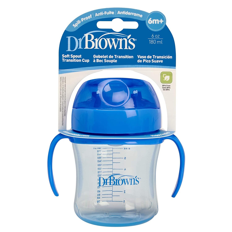Dr. Brown's Soft Spout Transition Cup (6 oz Soft-Spout Transition Cup Assorted (Stage 1 6m+))