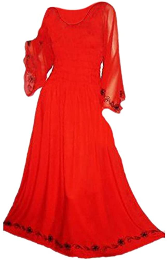 Cool Kaftans SALE New LYLA Red Long Party Maxi Dress Fits Size 12-20 - Red