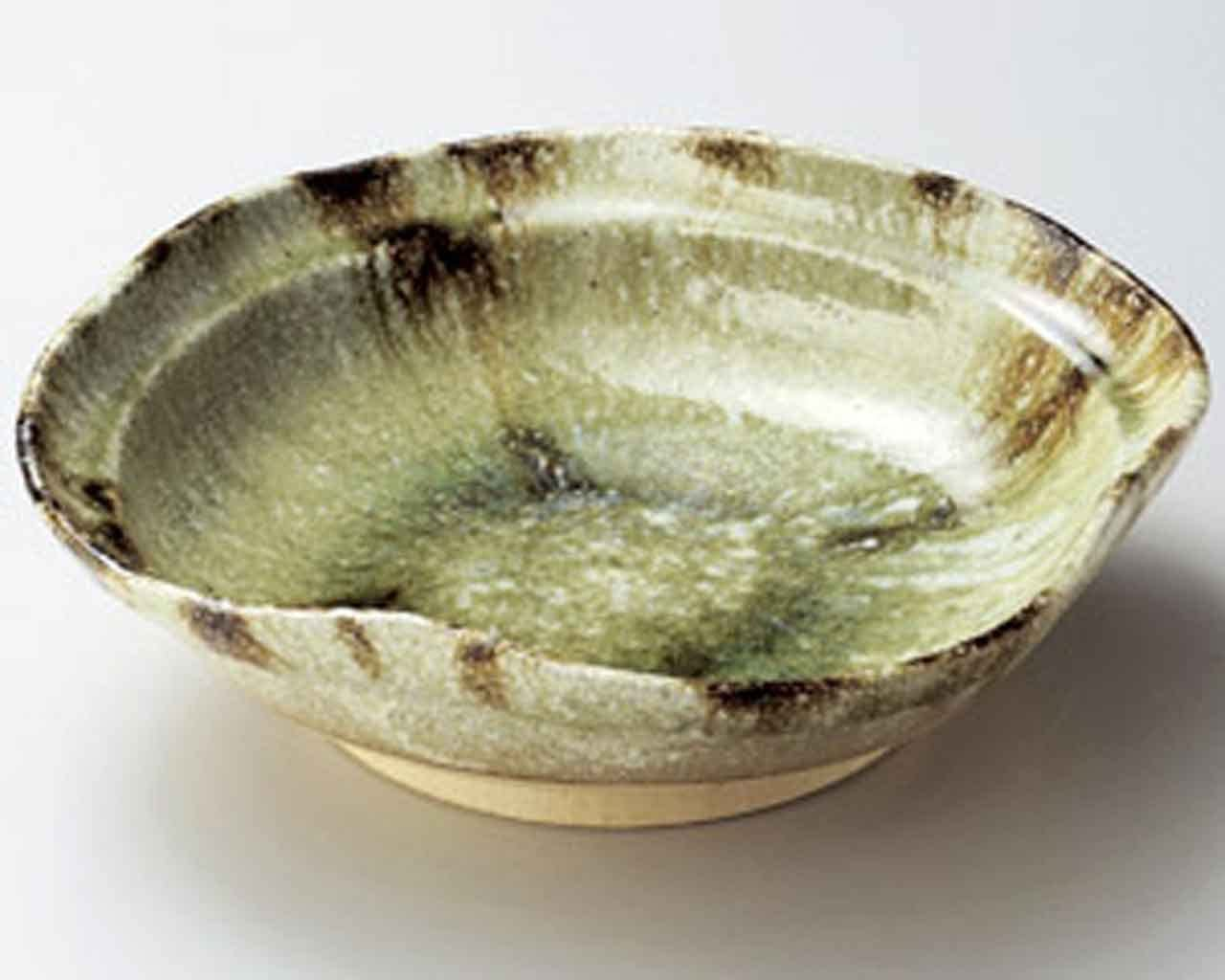 Haiyu 13.4inch Large Bowl Beige Ceramic Made in Japan