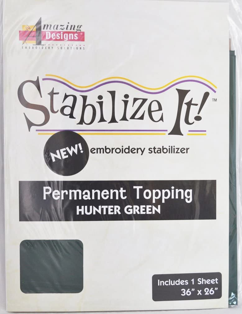 Amazing Designs Stabilize It Embroidery Stabalizer - Permanent Topping Hunter Green, 1Yd