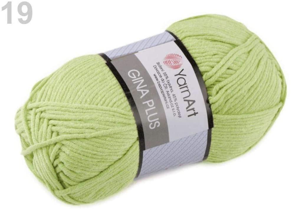 1pc (11) Lime Green Knitting Yarn Gina Plus 100g Yarnart, Knitting, Crochet, Embroidery, Haberdashery