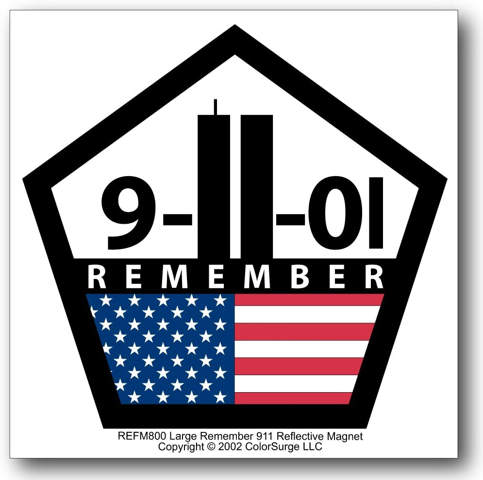 COOLHUBCAPS Remember 911 Reflective Auto Magnet