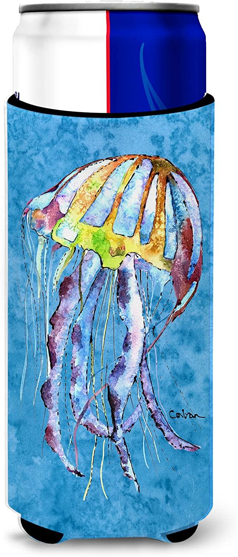 Caroline's Treasures 8682MUK Jellyfish Ultra Beverage Insulators for slim cans, Slim Can, multicolor