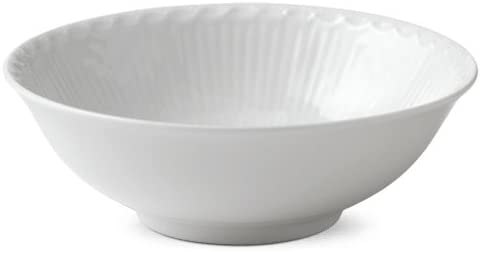 White Half-LACE Soup/Cereal Bowl