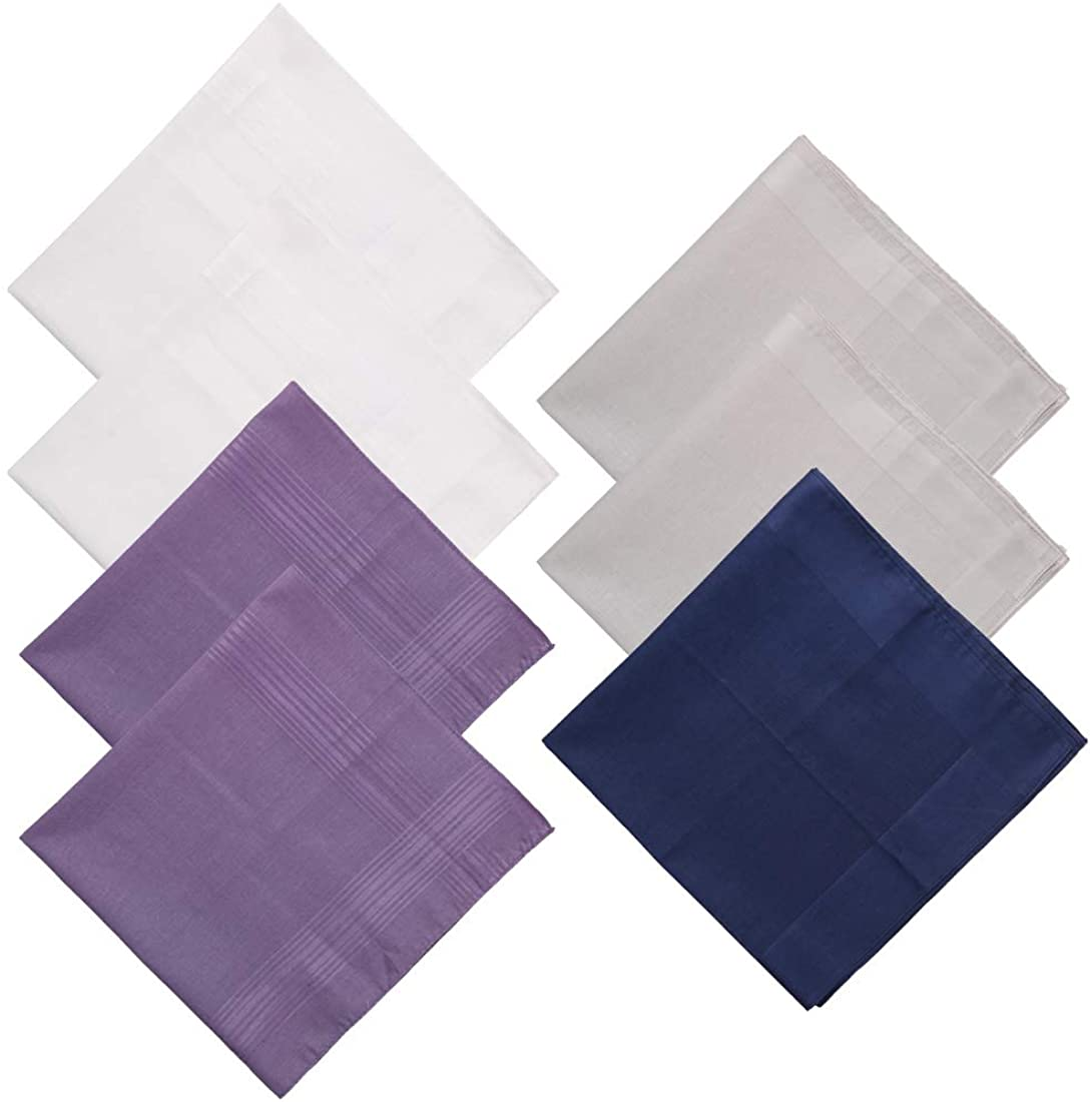 Mens Cotton Hanky Various Handkerchiefs Sets Gift For Daily Use By Y&G
