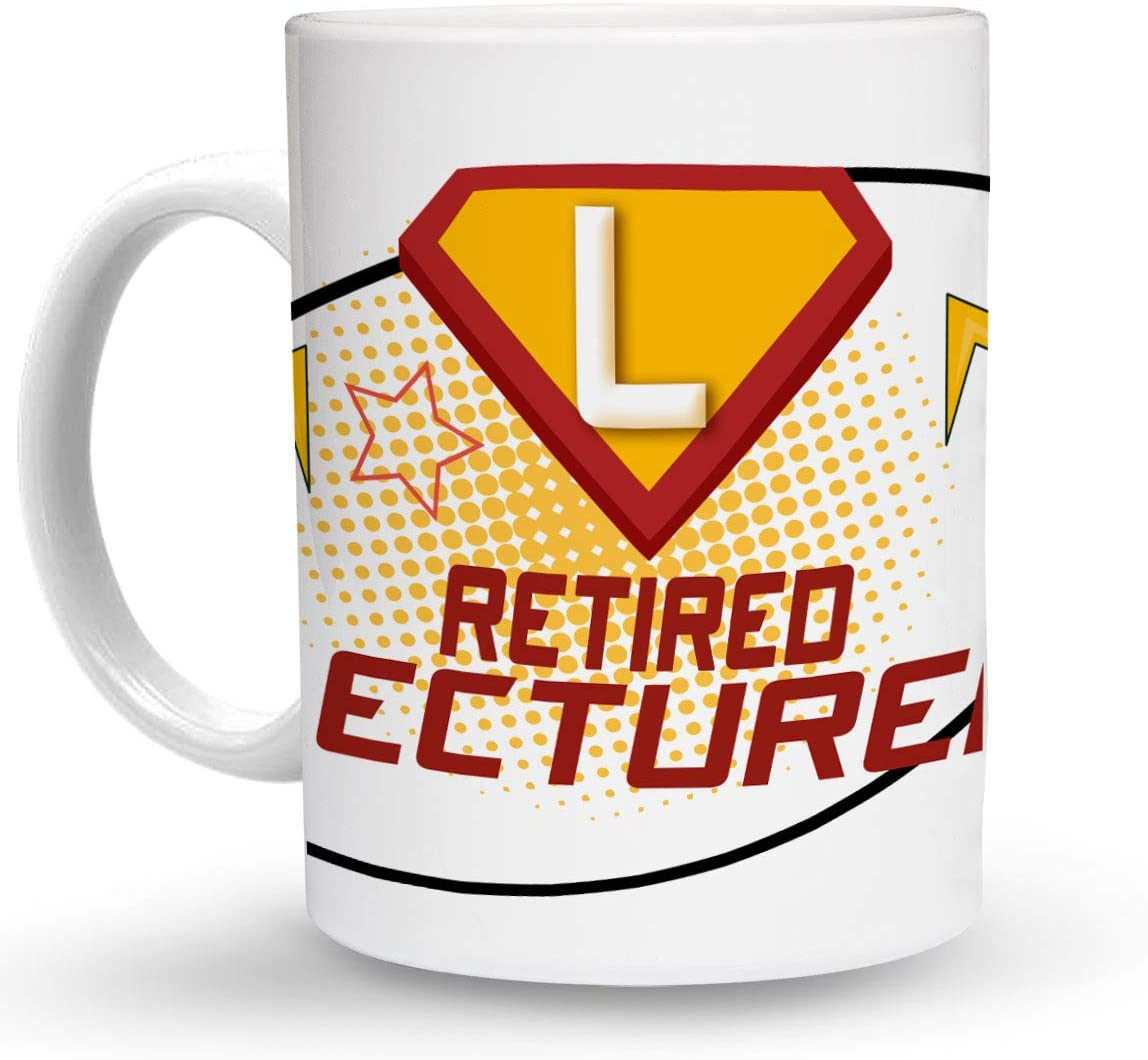 Makoroni - RETIRED LECTURER Career 6 oz Ceramic Espresso Shot Mug/Cup Design#90