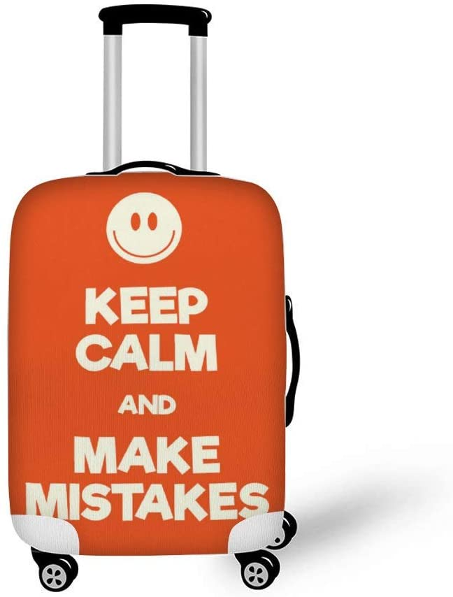 Keep Calm And Make Mistakes Fashionable Baggage Suitcase Protector Travel Luggage Cover Anti-Scratch
