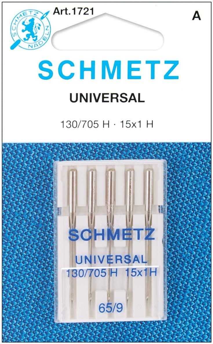 25 Schmetz Universal Sewing Machine Needles 130/705H 15x1H Size 65/9