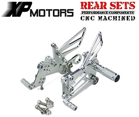 Frames & Fittings Huscus 1Set Aluminum Motocycle Racing Rearset Footpeg Rear Foot Pegs Kit for BMW S1000RR S 1000RR S 1000 RR 2009 2010-2013 2014 - (Color: Silver)