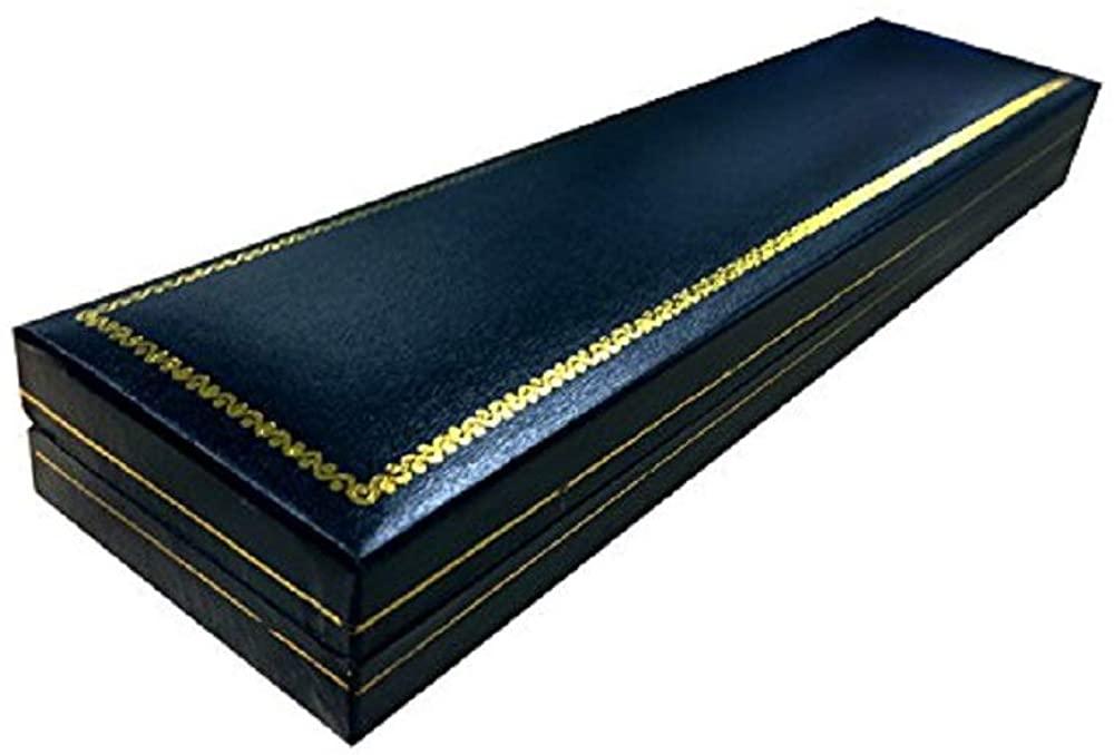 King Ice Classic Leatherette Black Bracelet Jewelry Gift Box