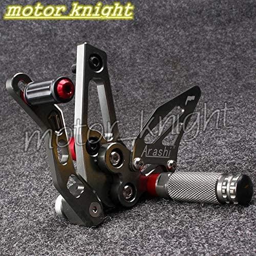 Frames & Fittings CNC Racing Rearset Foot pegs fit Speed Triple 1050 2011 2012 2013 2014 - (Color: Grey)