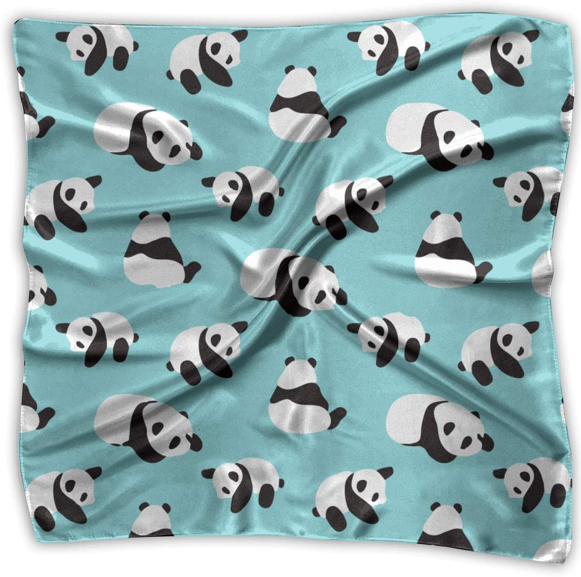 WFIRE Cute Cartoon Panda Square Handkerchiefs Scarf Shawl Bandanas Headscarf Neckerchief