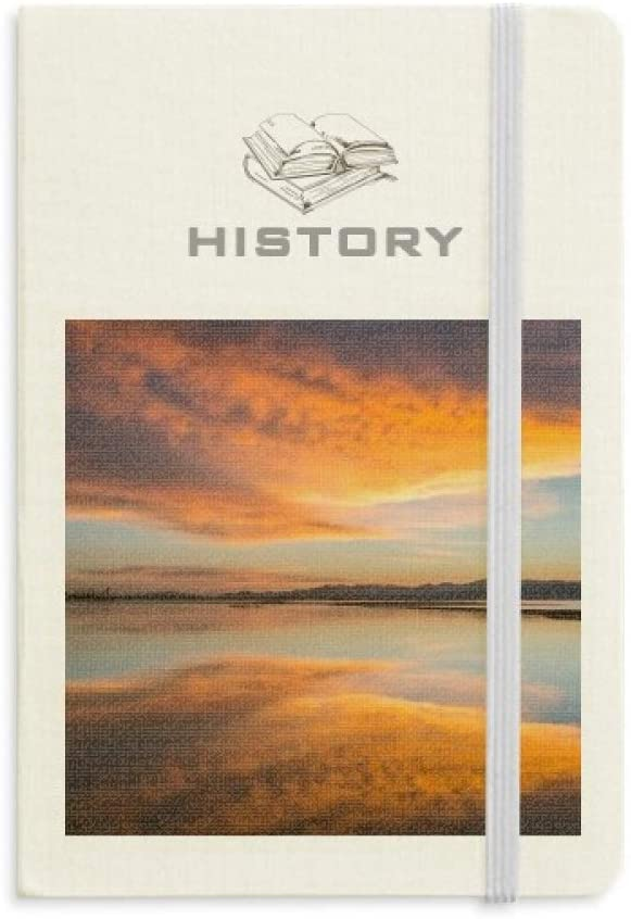 Sunrise Ocean Sky Cloud Reflection History Notebook Classic Journal Diary A5