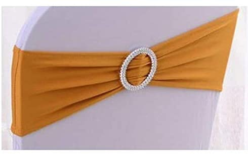 50PC Stretch Chair Sashes Bows Chair Bands with Buckle for Wedding Hotel Banquet Birthday Party Decorations