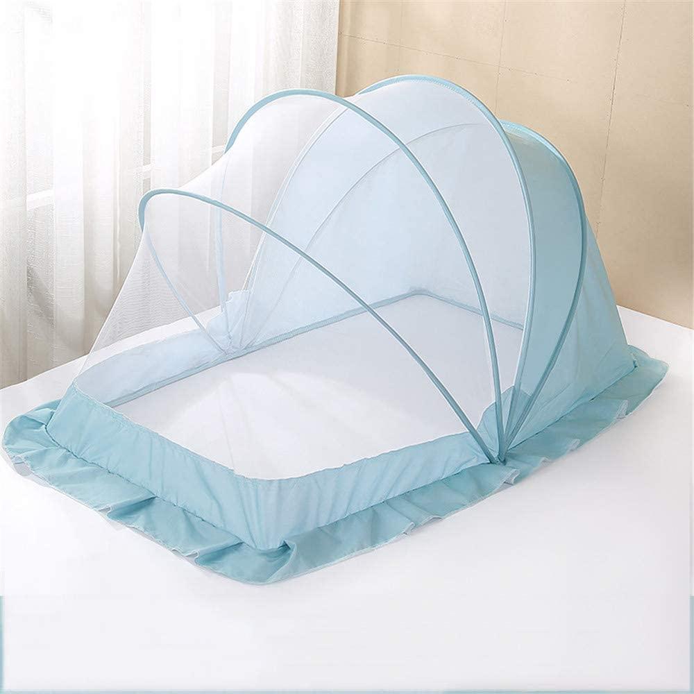 LI&muzi Portable Mosquito Net Foldable Baby Anti-Mosquito Cover Yurt Mosquito Net Shading Bottomless,Blue,M