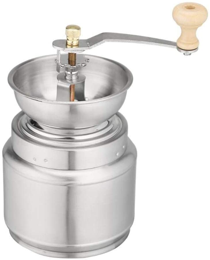 Wghz Stainless Steel Manual Coffee Grinder, Spice Grinding Mill Hand Tool Home Grinder Milling Machine Coffee Accessories, Silver