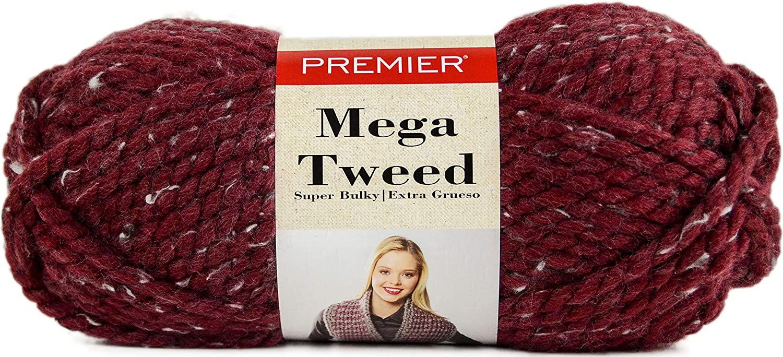 Premier Yarns Mega Yarn-Merlot Tweed