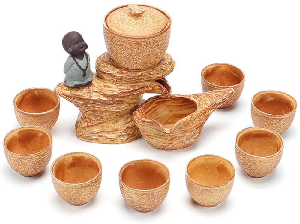 Tea set kung fu tea ceramic home [creative] simple automatic tea making machine-A