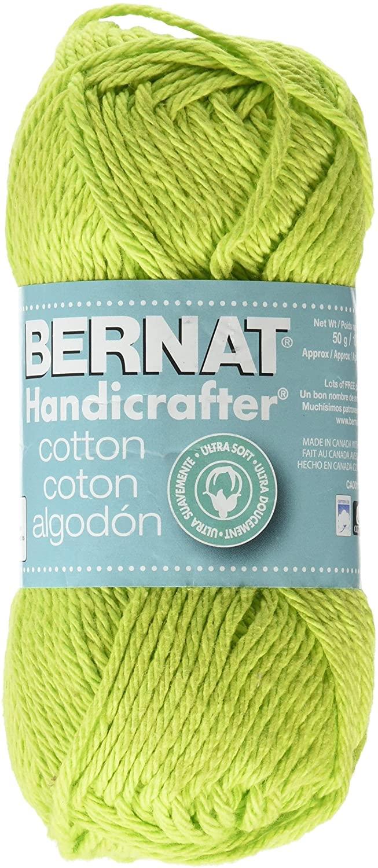 Spinrite Handicrafter Cotton Yarn Solids, Hot Green