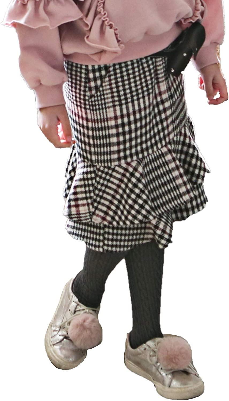 Girl's Plaid Fishtail Skirt