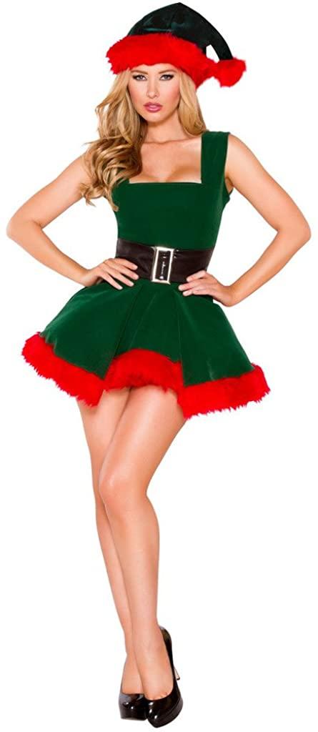Musotica Adult Kristen Kringle Northern Angel Holiday Mini Dress