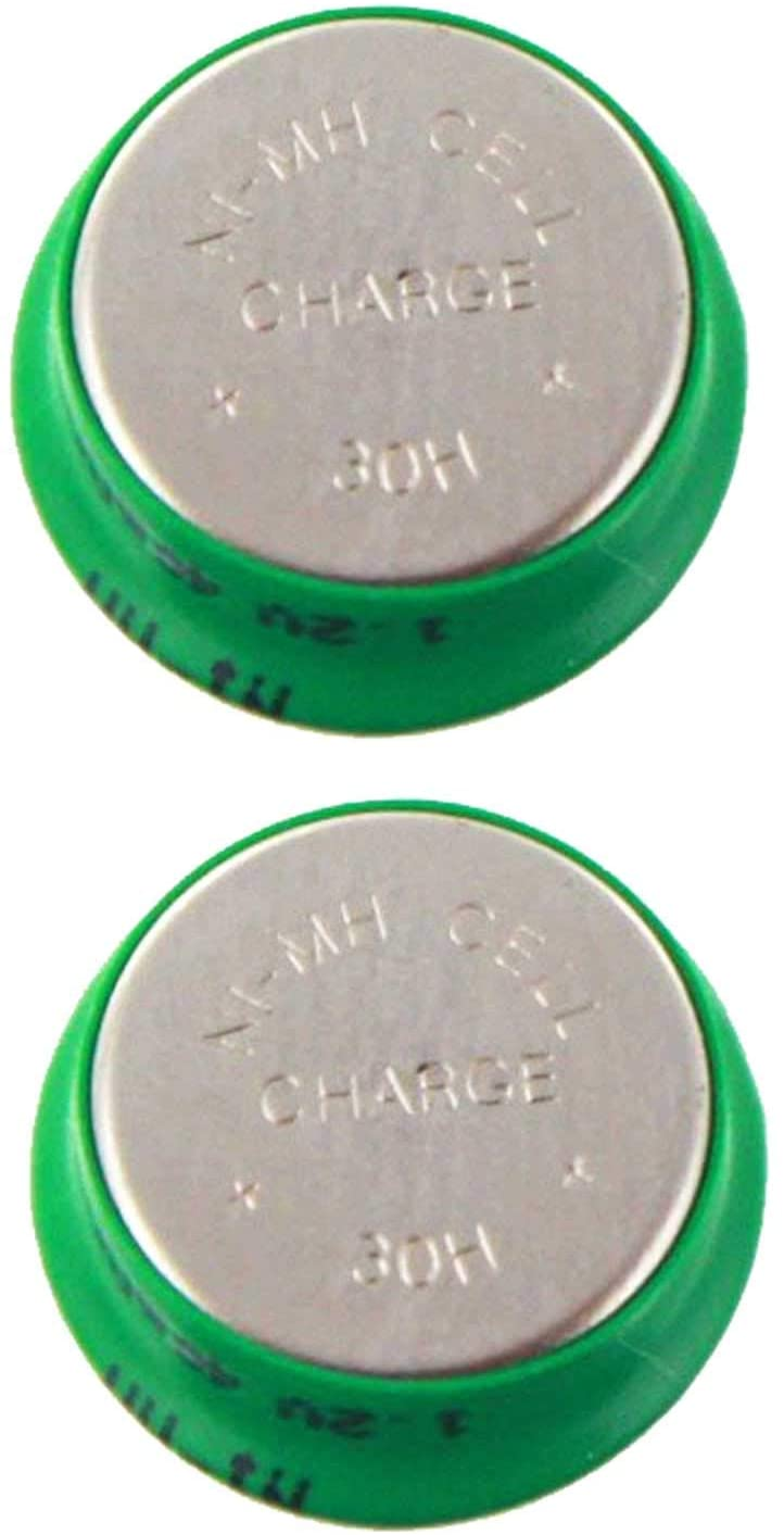 2pcs 1.2V 40mAh NiMH Flat Top Cell Coin Button Rechargeable Battery USA SHIP