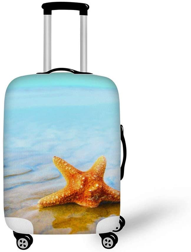 Starfish On The Beach Fashionable Baggage Suitcase Protector Travel Luggage Cover Anti-Scratch