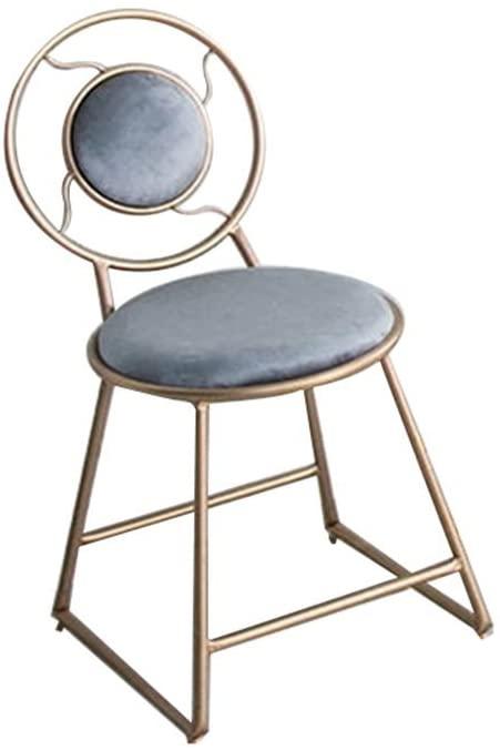 HOMRanger Minimalist Modern Dressing Chair, Coffee Tea Tea Leisure Chair, Iron Dining Chair Backrest 40cm45cm80cm (Color : C)