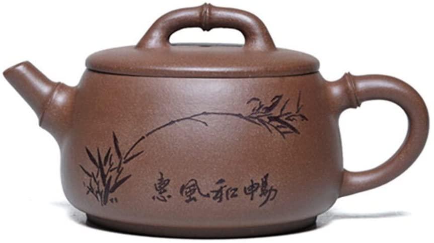 SHENLIJUAN teapot famous handmade ore down the slope mud Wai Fung Cheong teapot tea (Color : Purple mud)