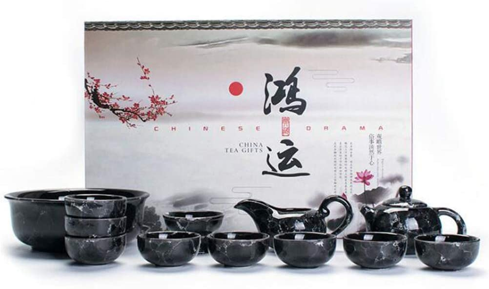 ZGSP Black Marble teapot, Teacup, Friend Gift (9)