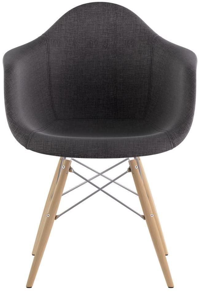 NyeKoncept Mid Century Dowel Arm Chair, Charcoal Gray