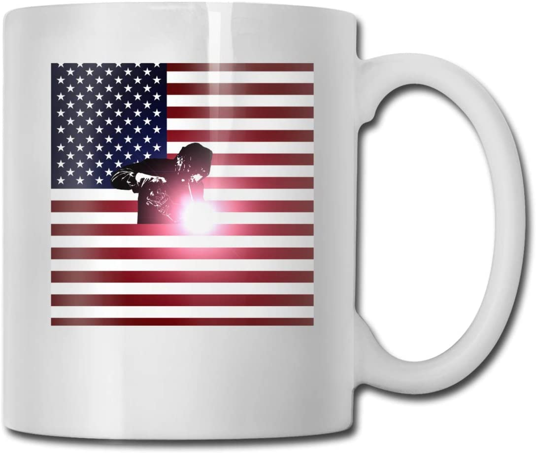 Welding American Flag Mark Cup Ceramic Cup Ceramic Coffee Cup