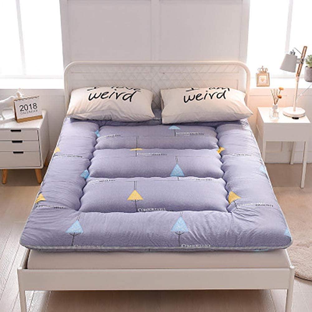 WSZGR Mattress Topper,Japanese Floor Futon Mattress Tatami Foldable Floor Mat Soft Thicken Sleeping Pad for Camping G 180x220cm/71x87inch