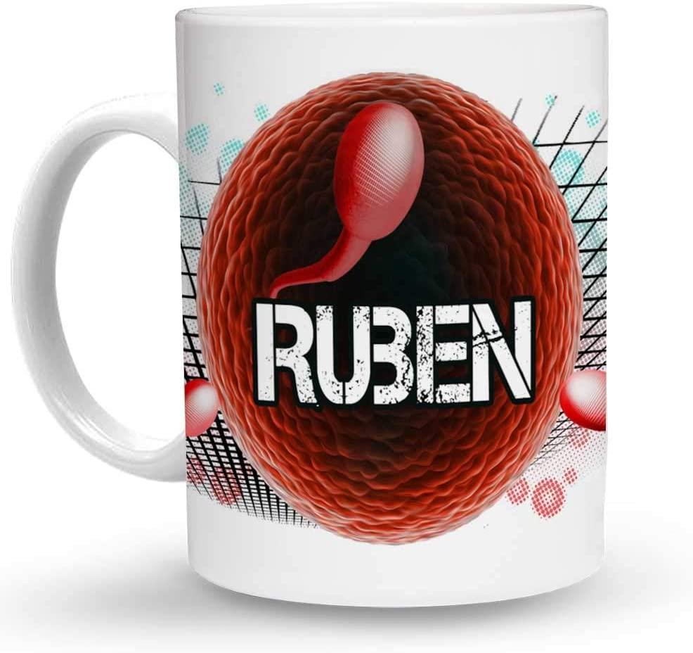 Makoroni - Ruben Name 6 oz Ceramic Espresso Shot Mug/Cup Design#21