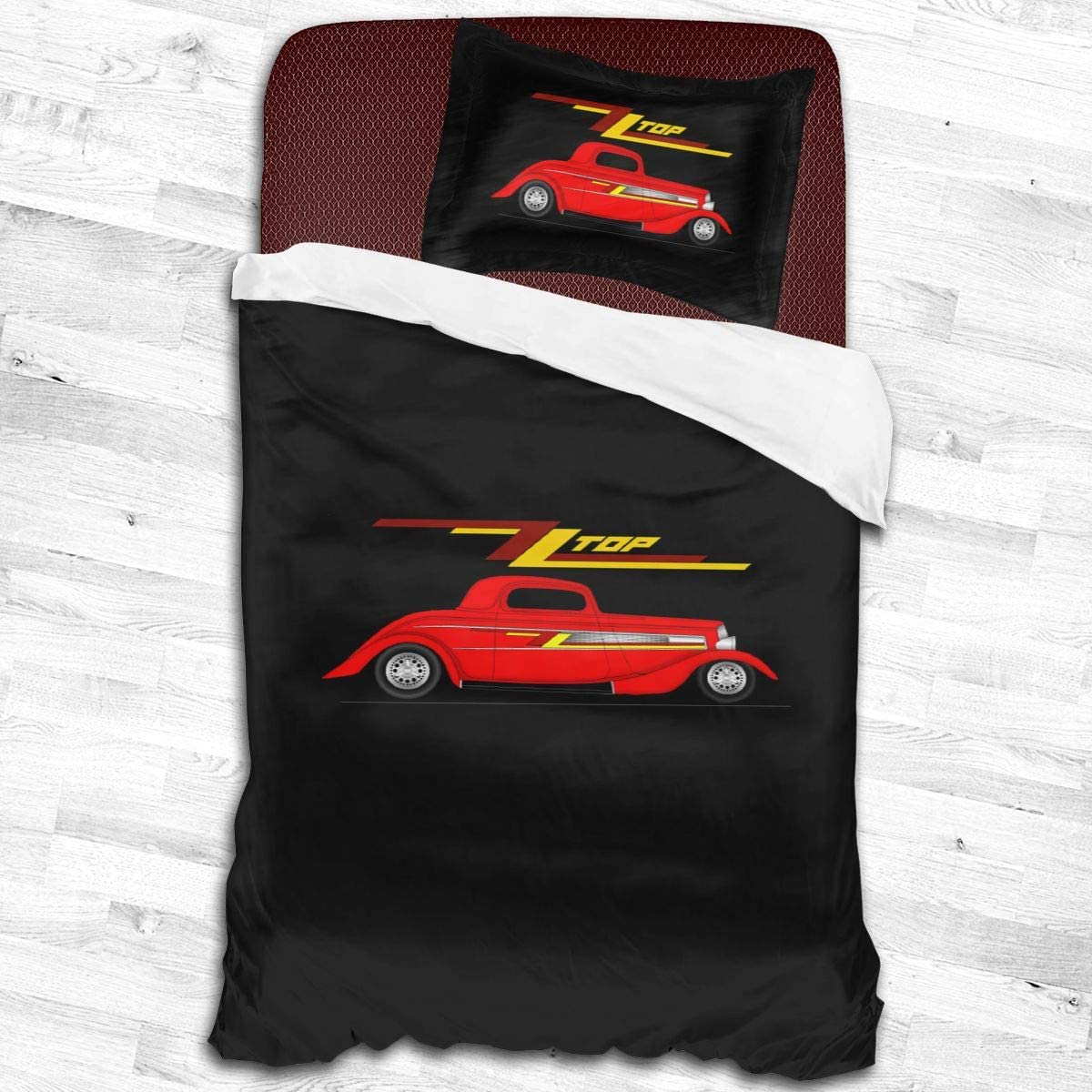 Qwtywqekeertyi Zz Top Cotton Student Dormitory Quilt Cover Two-Piece Quilt Cover for Boys and Girls On Single Beds