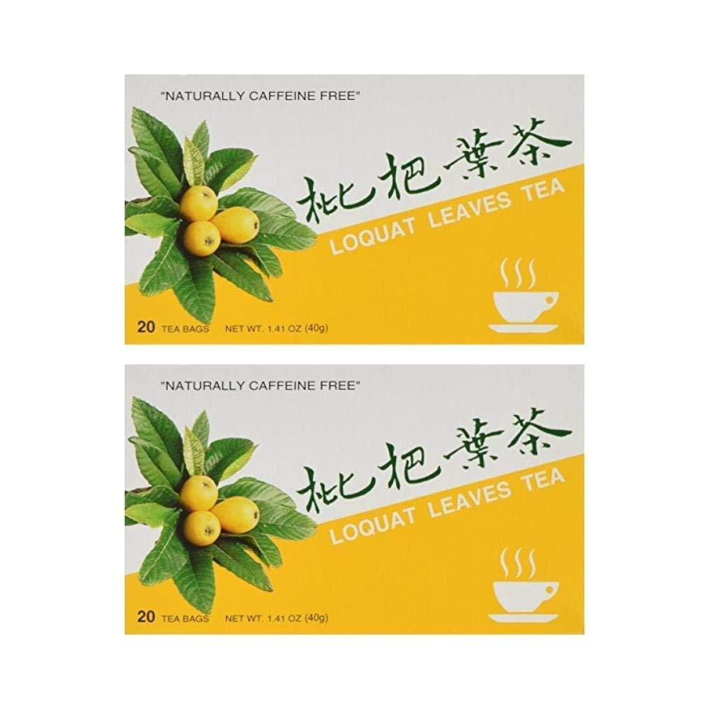 Loquat Leaves Tea, 20 Teabag Box (Pack of 2)