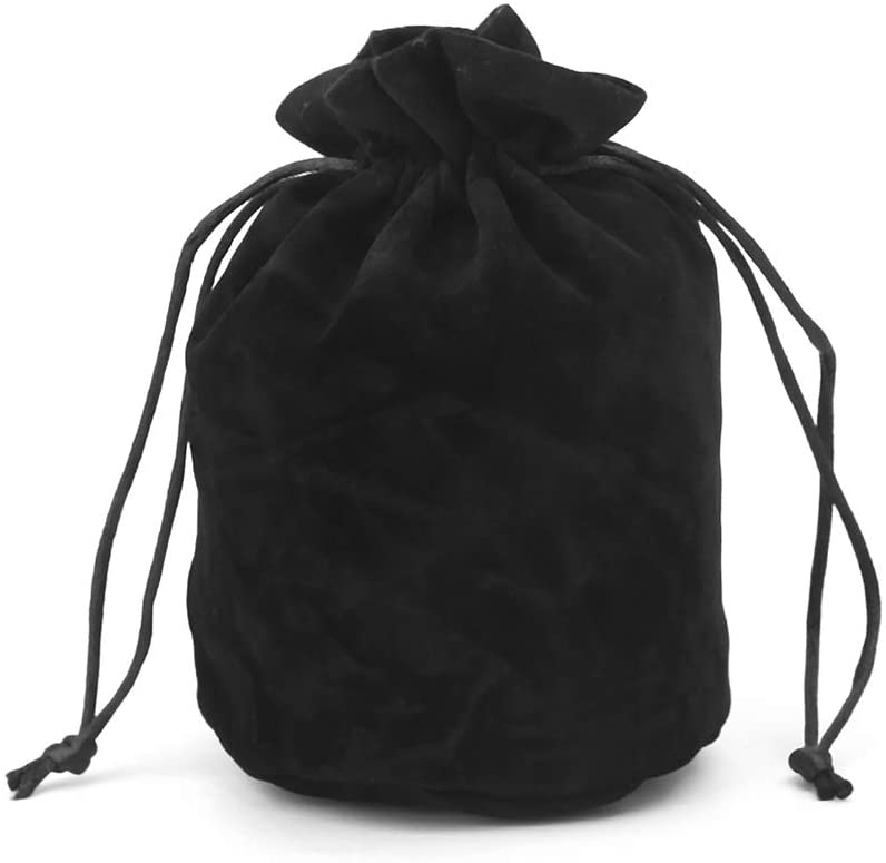 Cicitop DND Dice Bag Velvet Dice Bag Pouch Drawstring Bag Dungeons and Dragons Dice Bag