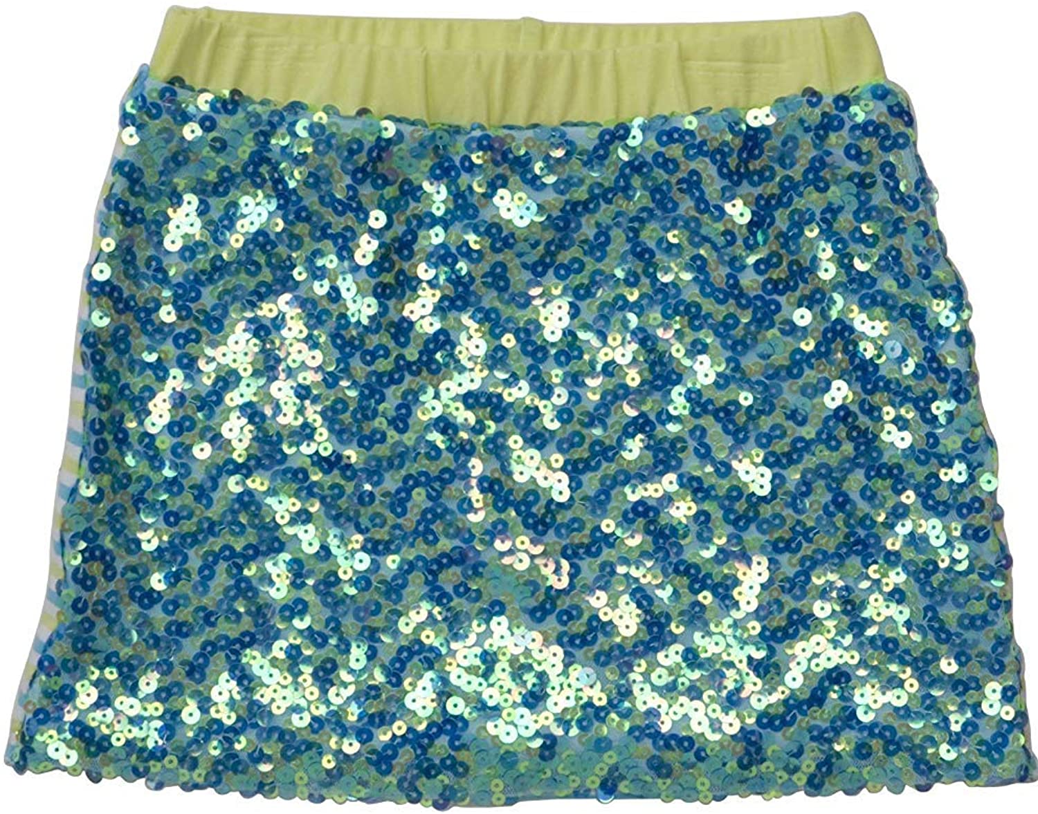 Kate Mack Girls Sun Circus Sequin Skirt in Aqua Multi