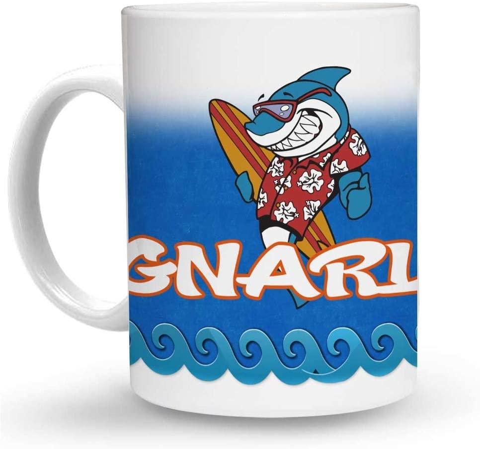 Makoroni - GNARLY Surf Surfing 6 oz Ceramic Espresso Shot Mug/Cup Design#97