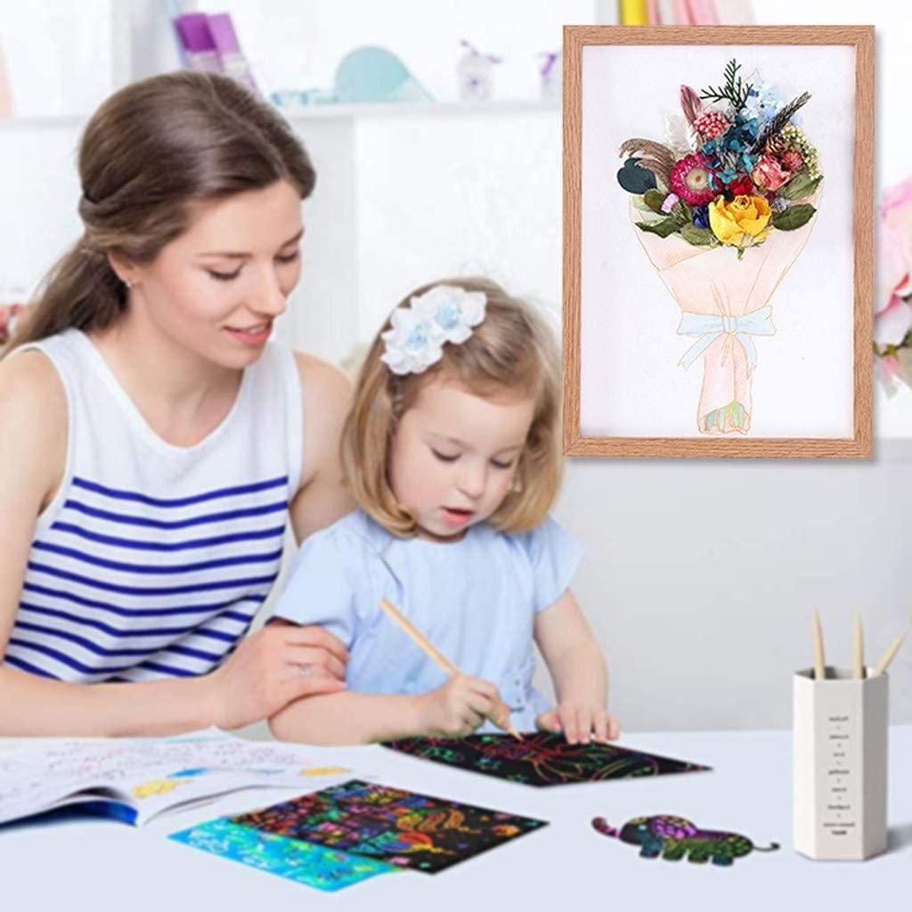 Lumumi Kids Home DIY Craft, Creative Painting Kit for Parent-Child Home Activity Home Flower Decor-23 × 31.5cm (D Flower)