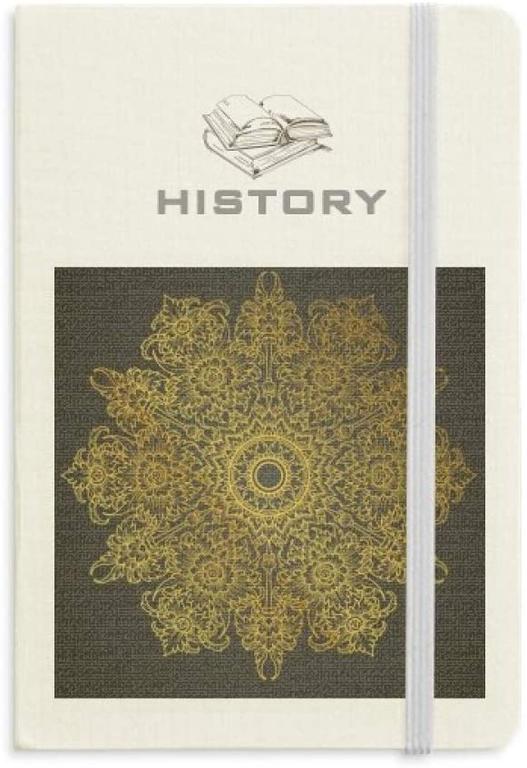 Thai Customs Culture Spread Gold Foil History Notebook Classic Journal Diary A5