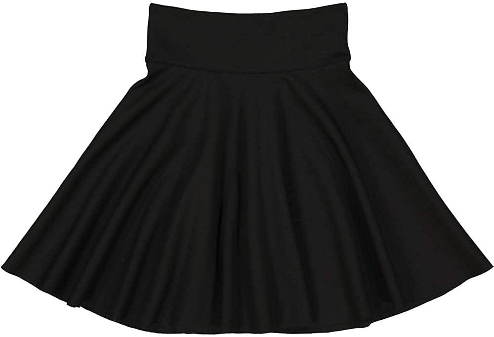 Teela Junior Girl's Knee Length Circle Ponte Skirt Style SS8081