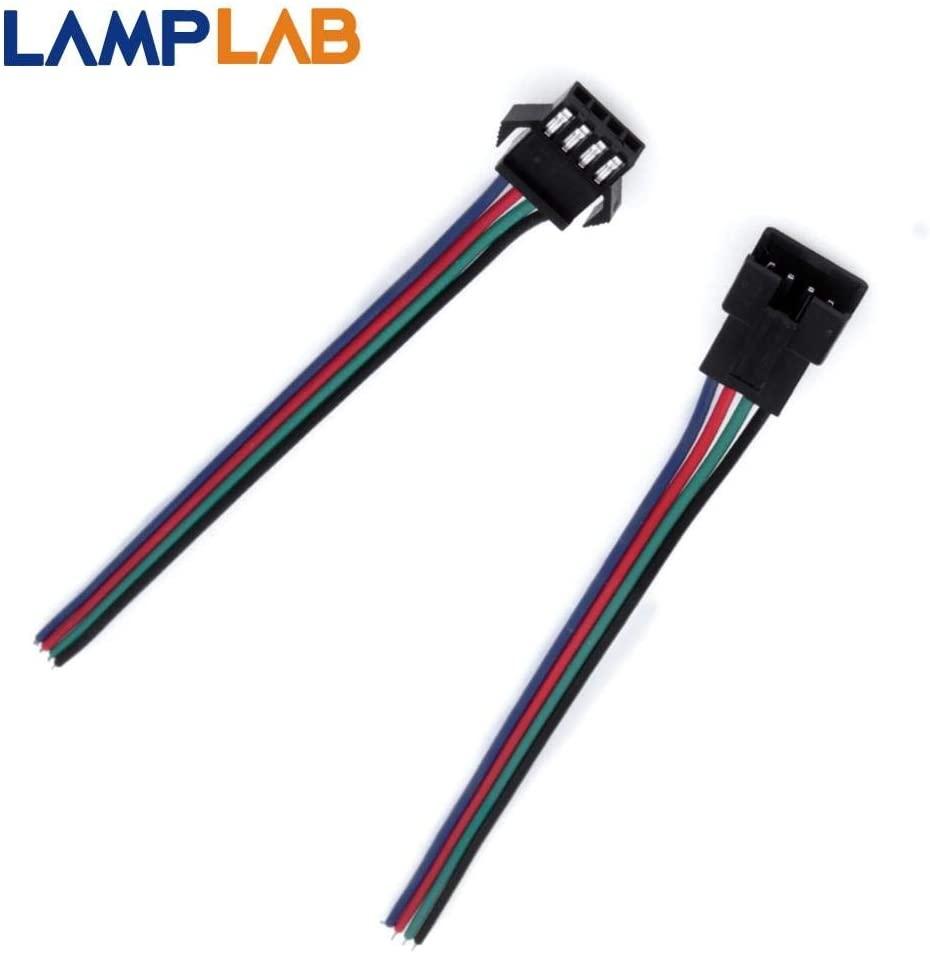 Davitu Electrical Equipments Supplies - 5PCS 3 Pin JST SM 2pin / 3pin / 4pin / 5pin Connectors For WS2812B LED Strip Female Male Cable - (Pins: 5 pin Set)