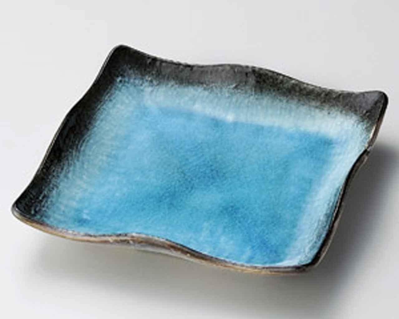 Sky 9.1inch Set of 5 Medium Plates Black porcelain Made in Japan