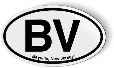 Stickers & Tees BV Bayville New Jersey Oval - Car Magnet - 5