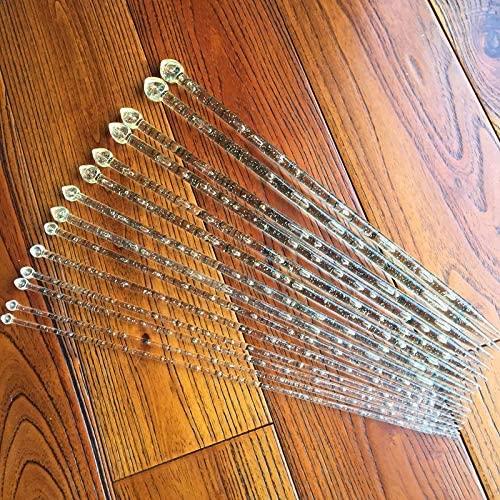 ShineBear 7 Sizes 14PCS/Set 36cm Single Pointed Knitting Needles Acrylic Plastic Handle Transparent Craft Knit Crochet Hooks 4mm-10mm